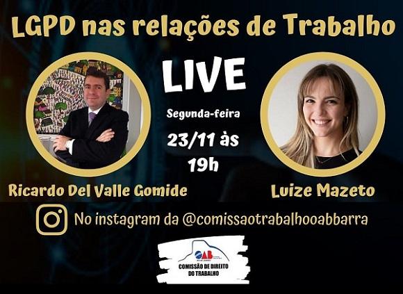 MDM faz live sobre LGPD para comissão da OAB-RJ